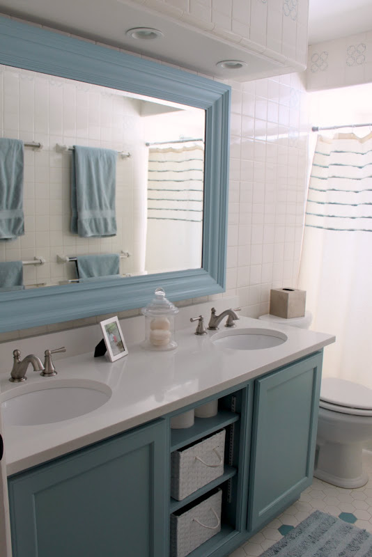 Steve Cline of Woodwork Designs made the bathroom vanity. He also made  title=