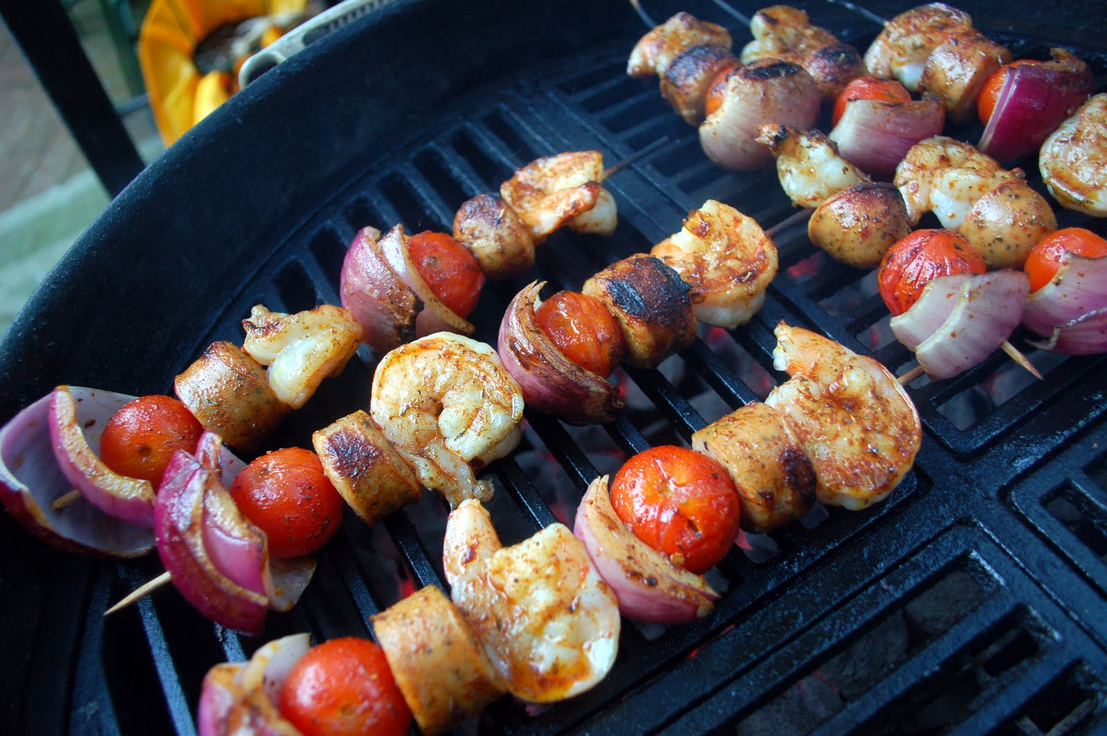 The Kitchen Sync: Grilled Shrimp and Sausage Skewers