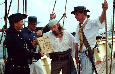 See, it says right here: All pirates shall be hanged.