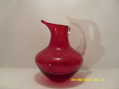 Whitefriars Ruby Jug 9649
