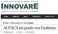 ALPACA, Innovare, 3 maggio 2010