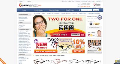 774527f9e4e33 EyeBuyDirect - Entrando no site através do Blog GlassyEyes ou através do  eBates (dá um rebate de 7%) tem um desconto adicional