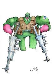 Soldado con muletas