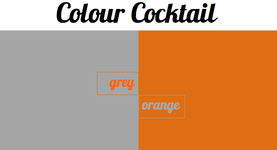 Grey And Orange >> Colour Cocktail Grey And Orange Bright Bazaar By Will Taylor