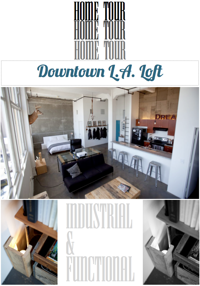 home tour downtown l a loft bright bazaar by will taylor. Black Bedroom Furniture Sets. Home Design Ideas