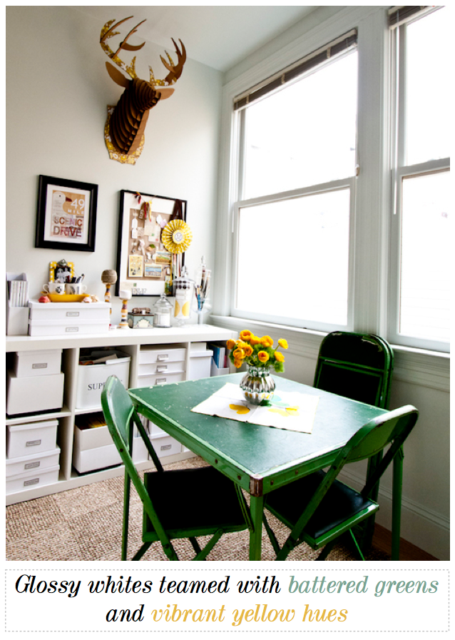 Bright Bazaar A Small Bright Home Office