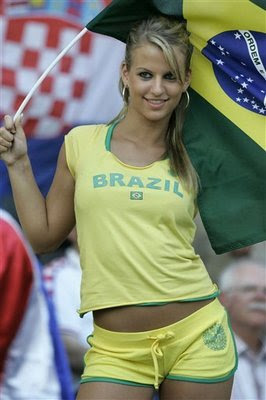 Rather valuable Beautiful soccer fan brazil