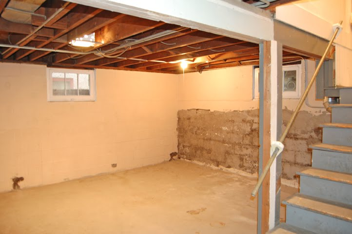 Our Latest Project Has Been Finishing Half Of Our Basement. This Is One Of  The Only Before Photos I Have Where You Can See The Old Windows And The  Cinder ...
