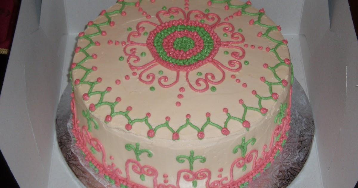 Mehndi Inspired Cake : Sugarbakers cake design mehndi