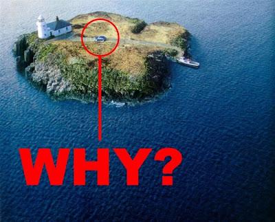 car on a island