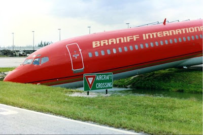 braniff international aircraft did the wrong crossing