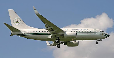 President of Nigeria uses a Boeing Business Jet (737)