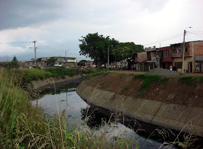 open sewer in Laureano Gomez