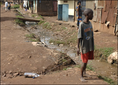 open sewer in  uganda
