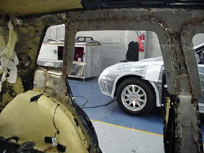Armor welded to interior