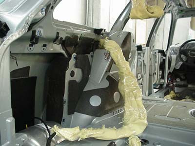 Quarter panels prepared for armoring