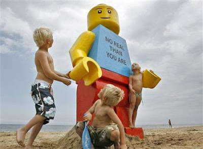 Life-sized Lego toy