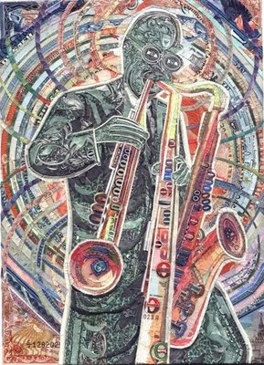 Artwork using currency notes (9) 5