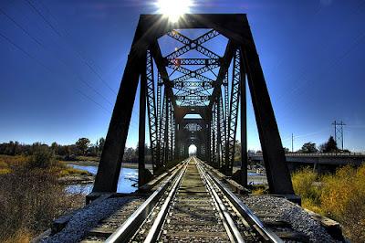 Railway bridge over the Snake River