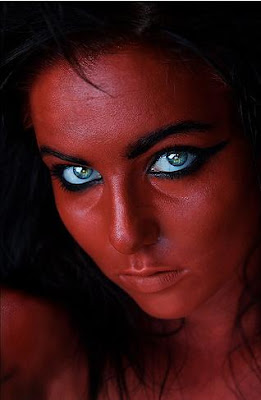 Beautiful lady with amazing eyes & charming face color
