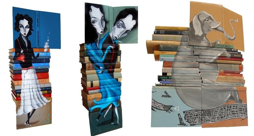 Cool and creative ways to reuse books for How to reuse old books
