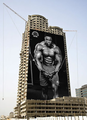 Creative ad of a gym