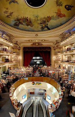 El Ateneo bookstore on Avenida Santa Fe in Buenos Aires