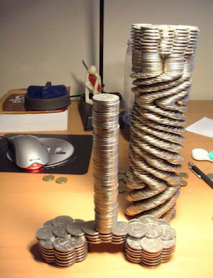 Amazing Coin Balancing Structures (4) 1
