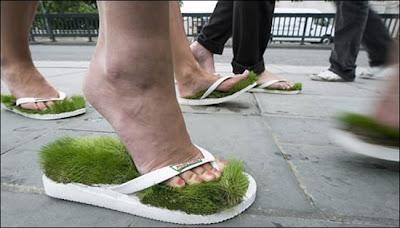 Krispy Kreme Grass Flip Flops