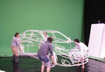 Real Wireframe Of Toyota Corolla Sculpture By Benedict Radcliffe (7) 3
