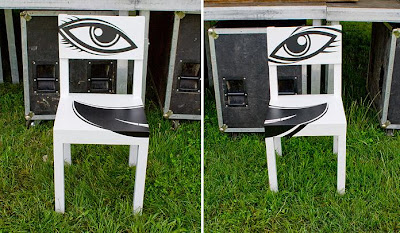 hand painted chairs (5) 1