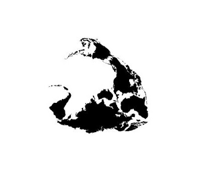 Twelve Animals Created From World Map (12) 7