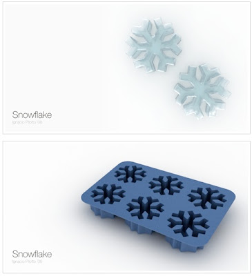 Snowflake Ice Cube Tray