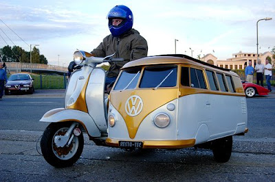 Lambretta Scooter With A VW Van Sidecar