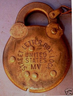 United States Postal Mail Letter Box Padlock