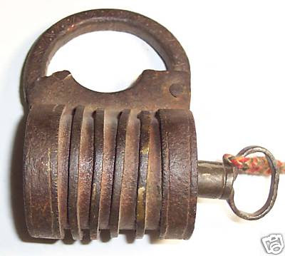 Old Fashioned Lock Cutaway