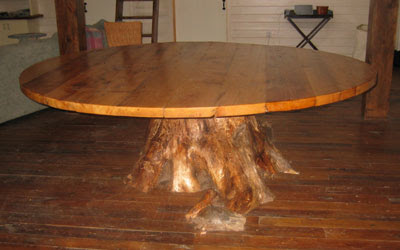 Dining table tree trunk dining table uk for Tree trunk dining table