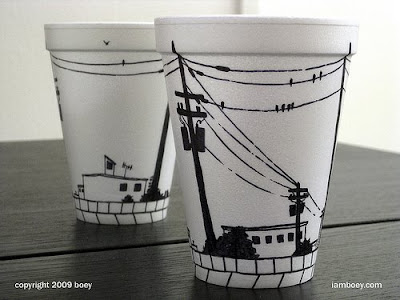 Art On Styrofoam Cups (11) 1