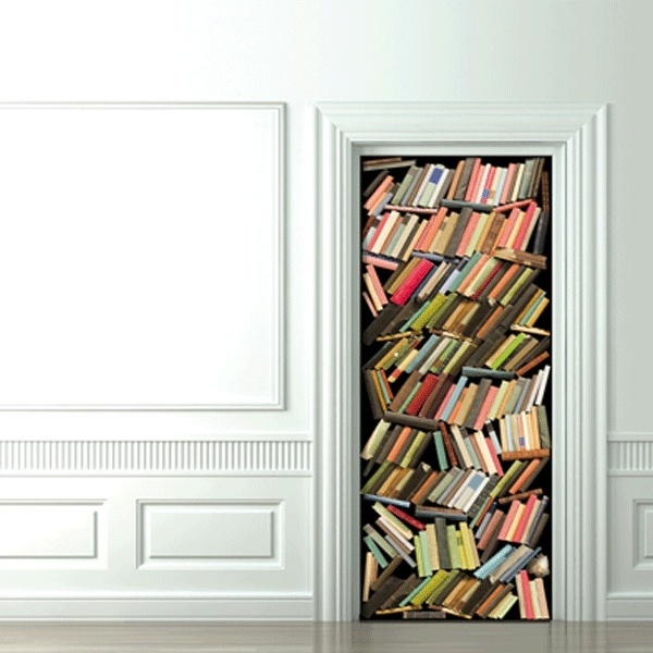 8 cool and creative 3d door stickers - Sticker trompe l oeil mural ...