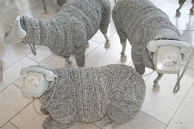 Creative Sheep Sculptures Made From Rotary Telephones (10) 2