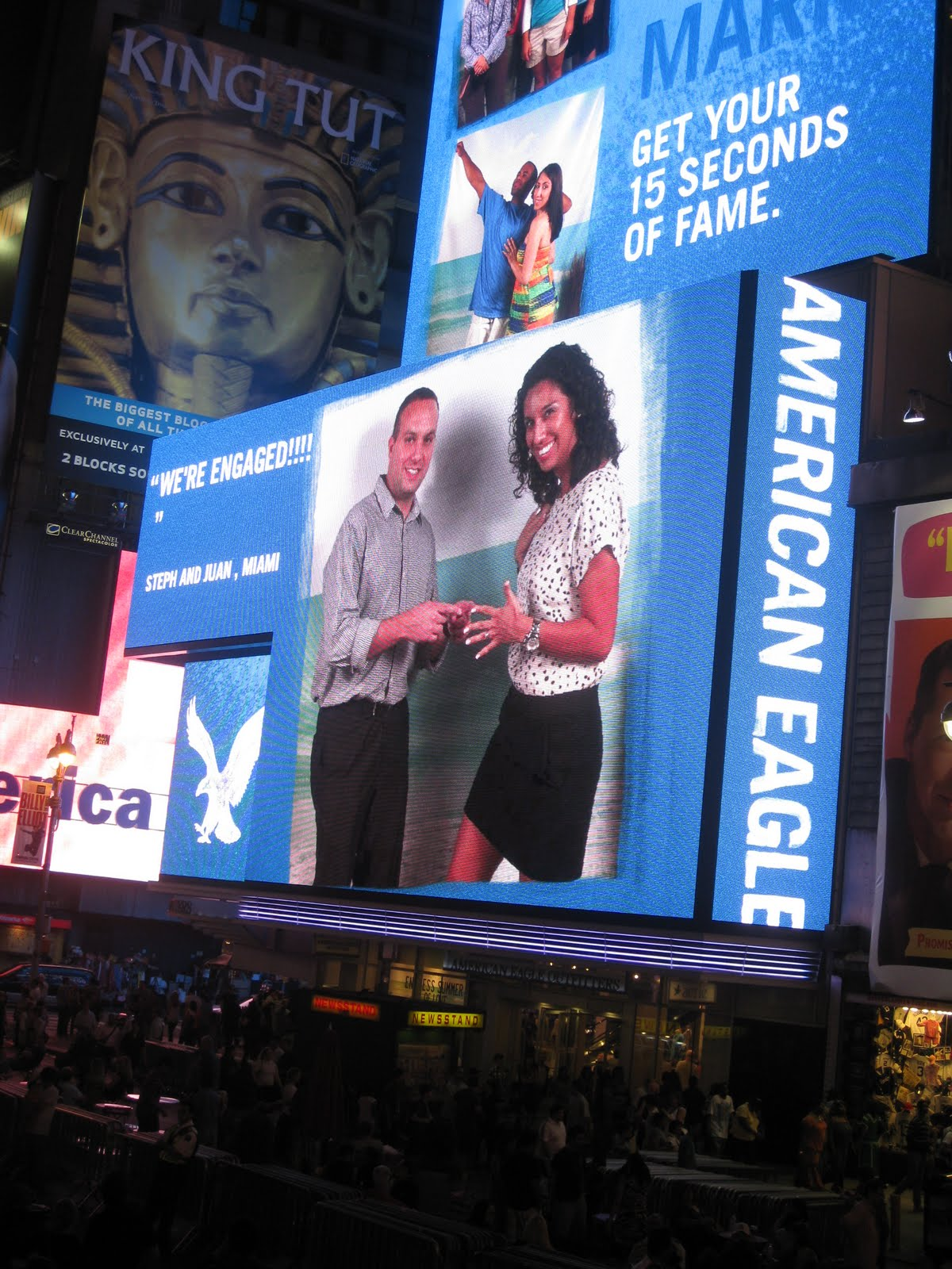 15 Seconds Fame Times Square we Had Our 15 Seconds of Fame