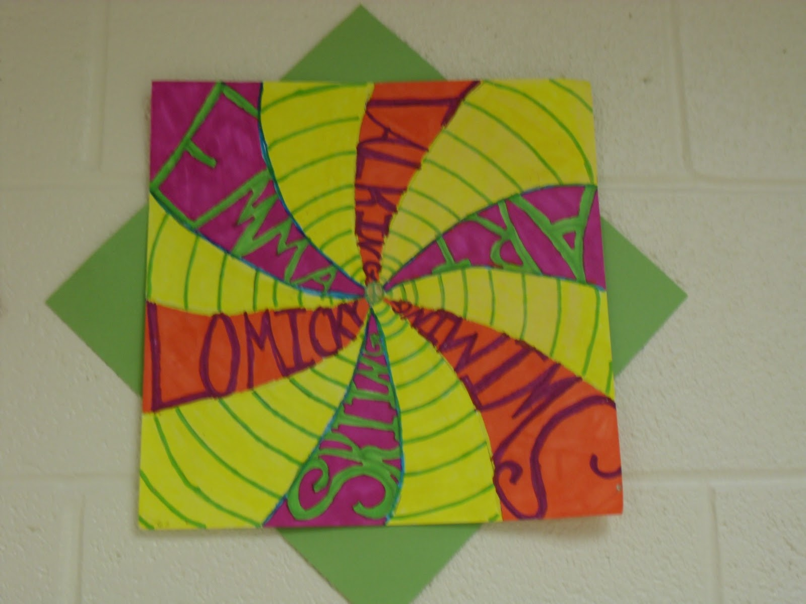 Line Unity Art : Sinking springs art th grade radial name renderings