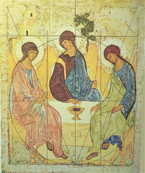 the byzantine anglocatholic rublevs sacred geometry