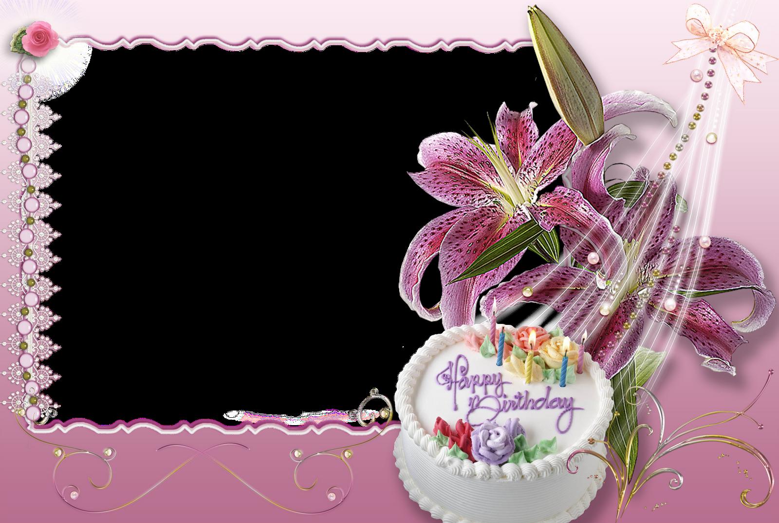 Красивые рамки для фото с днем рождения для девушки