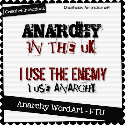 Anarchy WordArt - CU CIZ-AnarchyWordArt
