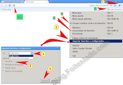 passo a passo: como Importar favoritos no google chrome