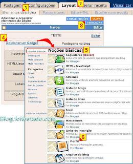 Como adicionar gadget perfil do blogger no blogspot