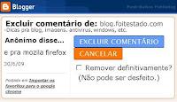 remover comentario no blogger