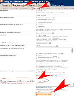 ativar avatar do perfil do blogger para aparecer nos comentarios do Blogspot