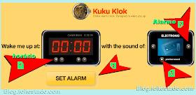 Clock, Despertador on-line com alarme